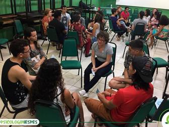Calouros de Psicologia são recepcionados por integrantes de Liga Acadêmica