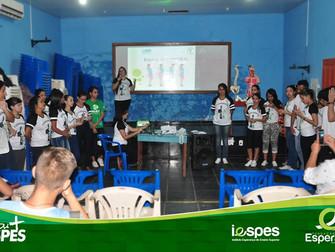 Alunos de Fisioterapia realizam primeira intervenção do PI na escola