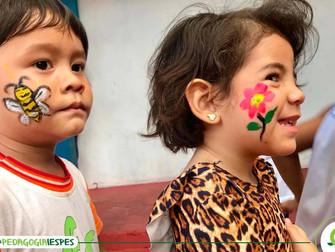 Crianças da Umei Caranazal participam de atividades interativas com alunos e professores do Iespes
