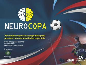 """Evento denominado """"Neurocopa"""" disponibiliza atividades esportivas para pessoas com limitações funcio"""