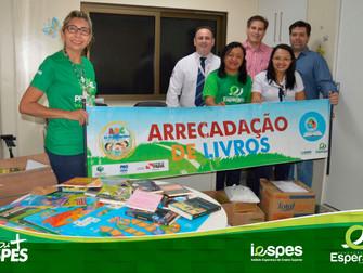 Campanha Ações do Bem entrega livros arrecadados no HRBA