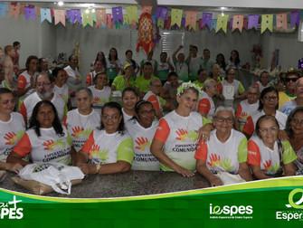 Participantes do projeto Esperança na Comunidade encerram semestre em clima junino
