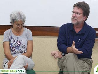 Jornalistas norte-americanos fazem roda de conversa no Iespes sobre jornalismo na Amazônia