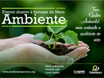 Curso de Gestão Ambiental promove evento alusivo à Semana do Meio Ambiente