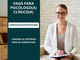 Clínica-Escola de Psicologia abre chamamento para contratação de psicólogo clínico