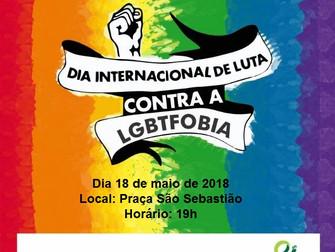 Turmas de Psicologia realizam evento alusivo ao Dia Internacional de Luta contra a LGBTfobia