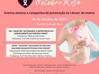 Curso de Enfermagem promove evento on-line alusivo a campanha Outubro Rosa