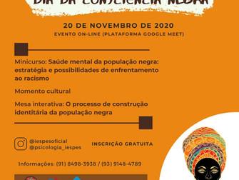 Evento alusivo ao Dia da Consciência Negra aborda Racismo, Saúde mental e construção identitária