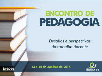 Encontro de Pedagogia vai debater desafios e perspectivas do trabalho docente