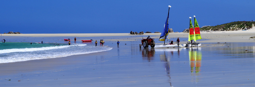 Activités sur la plage Cléder (29)