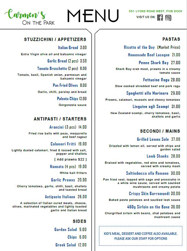 carmen a la carte menu jan 2020.webp