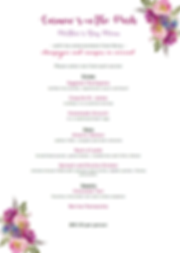 Mother day 2018 lunch menu