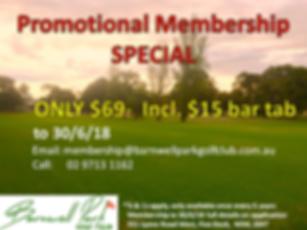 Golf club memebrship