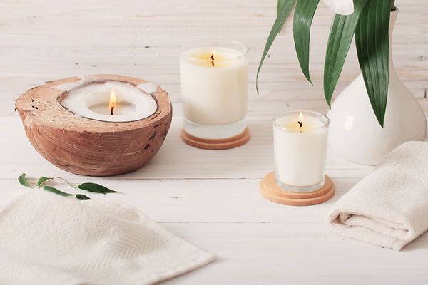 spa composition on white wooden backgrou