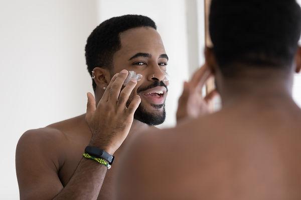 Close up mirror reflection positive Afri