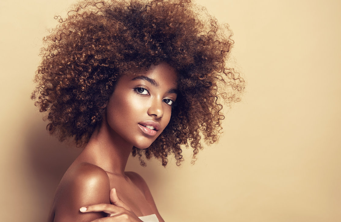 Beauty portrait of African American girl