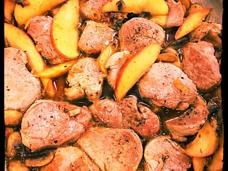 Maple Glazed Pork Medallions with Apples