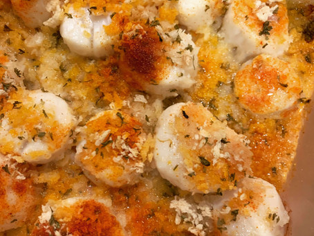 Oven Baked Scallops