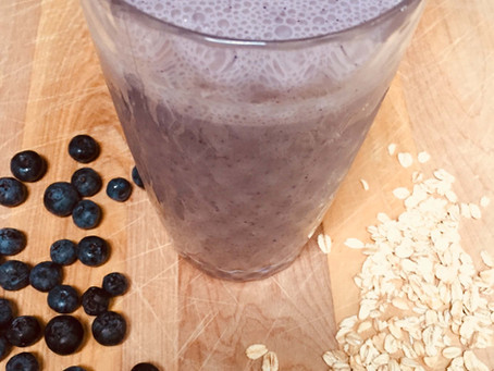 PB Blueberry Banana Smoothie