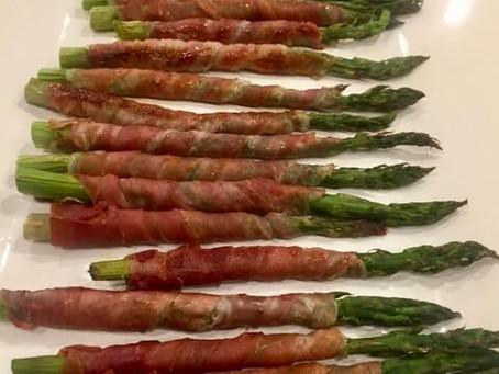Asparagus and Prosciutto Spirals