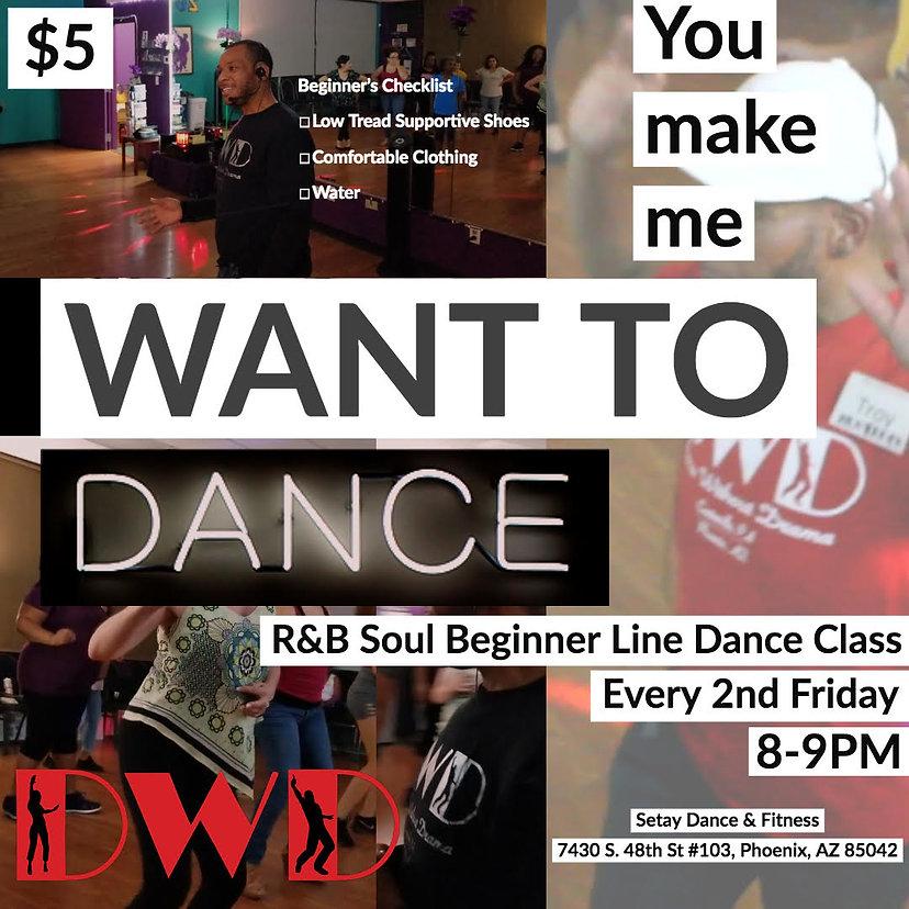 R&B Soul Beginner Line Dance Class