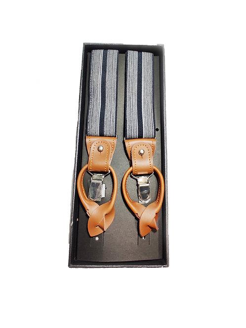 Grey & Navy Blue Suspenders