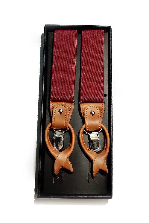 Burgundy Red Suspenders