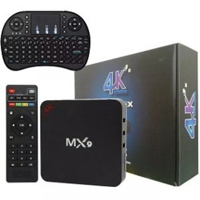 TV BOX MX-9 4K Android Transforme tv Smart