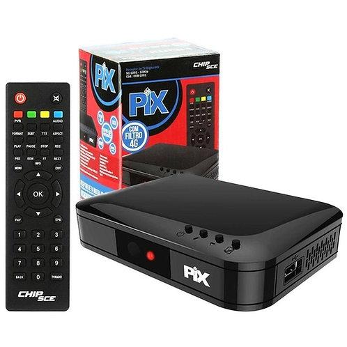 Conversor Digital de TV Pix 1001 Com Controle Remoto