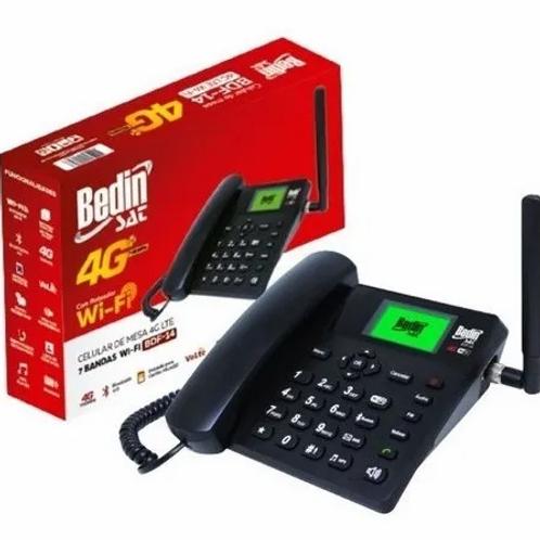Telefone Celular Rural Fixo De Mesa 4G E Wifi 7 Bandas Bdf-14 - Bedin Sat