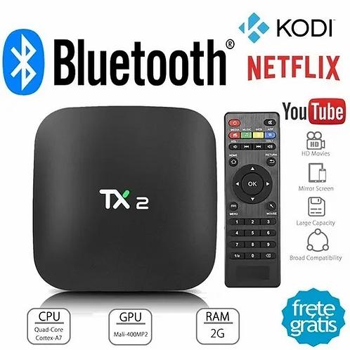 Tv box Youit TX2 padrão 4K 16GB preto com memória RAM de 4GB