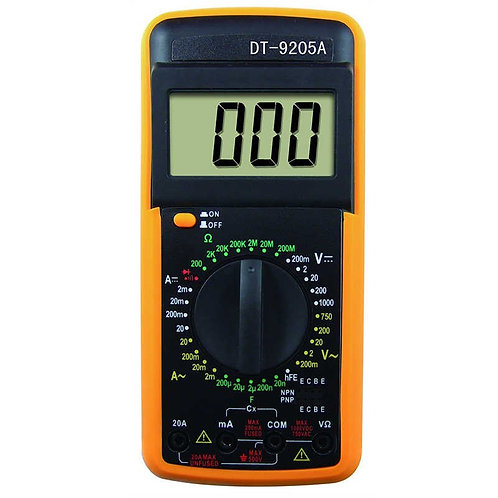 LCD Multímetro Digital Volt Amp Ohm Capacitância hFE Multimetro