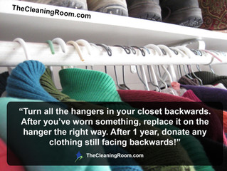 Is your closet getting full? Here's a quick tip to reclaim your space!
