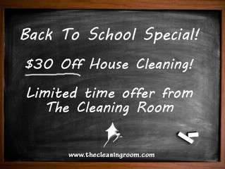 Back to School and no time to clean?