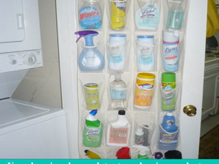 Life hack - The smarter, safer way to store your house cleaning products.
