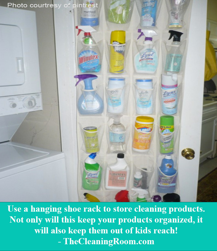 keep house cleaning products away from children and easily accessible