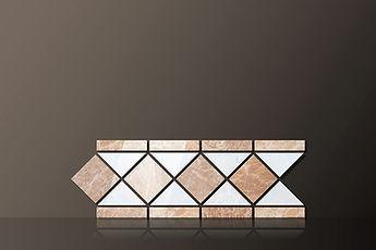 emperador light polished marble border set