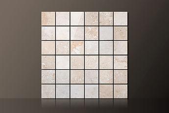 classic honed travertine straight mosaic