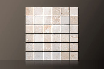 Classic Honed Travertine Straight Mosaic