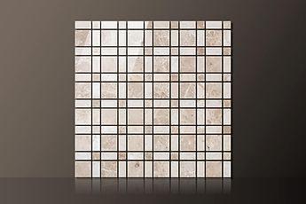 emperador polished marble plaids mosaic