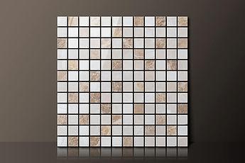 emperador random polished marble mosaic