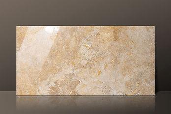 Golden Sienna Filled & Polished Travertine CC L60 Tile