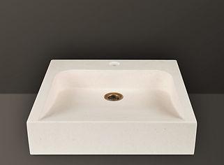 ivory brushed granite rectangular basin