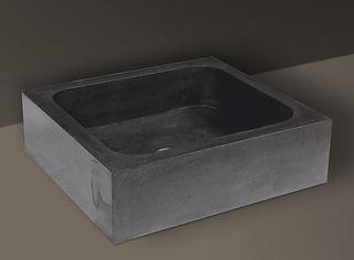 black brushed granite rectangualr basin