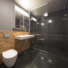 Berry Black Bathroom