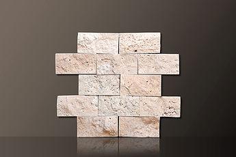 classic split-face travertine tiles set