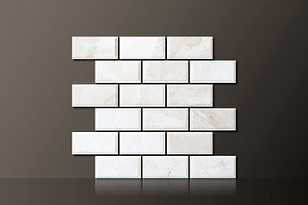 IVORY POLISHED MARBLE BEVELED MOSAIC