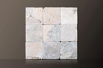 classic tumbled travertine tiles set