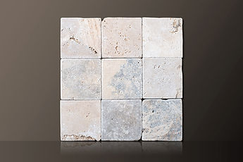 Classic Tumbled Travertine Tiles Set