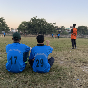 During a friendly cricket match
